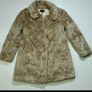 Topshop vegan faux fur coat. Size 2